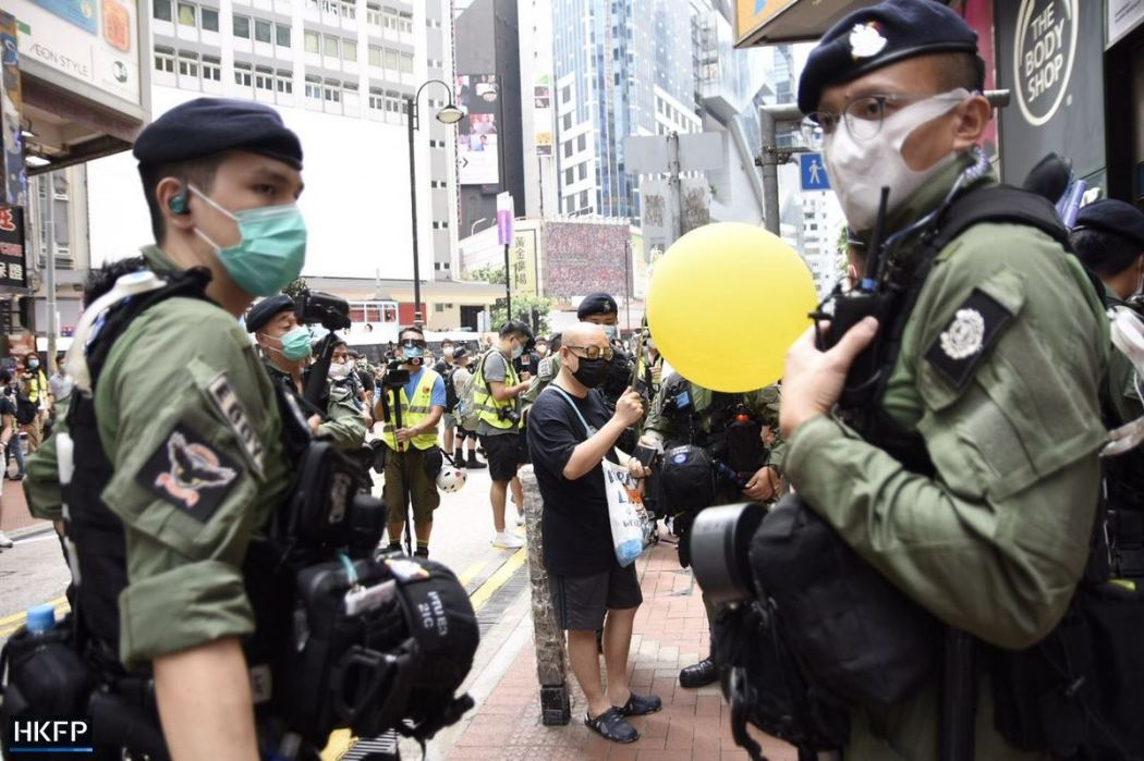 October 1 Causeway Bay Police Yellow Balloon