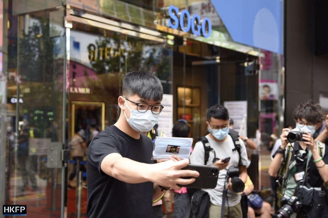 Joshua Wong October 1 Causeway Bay