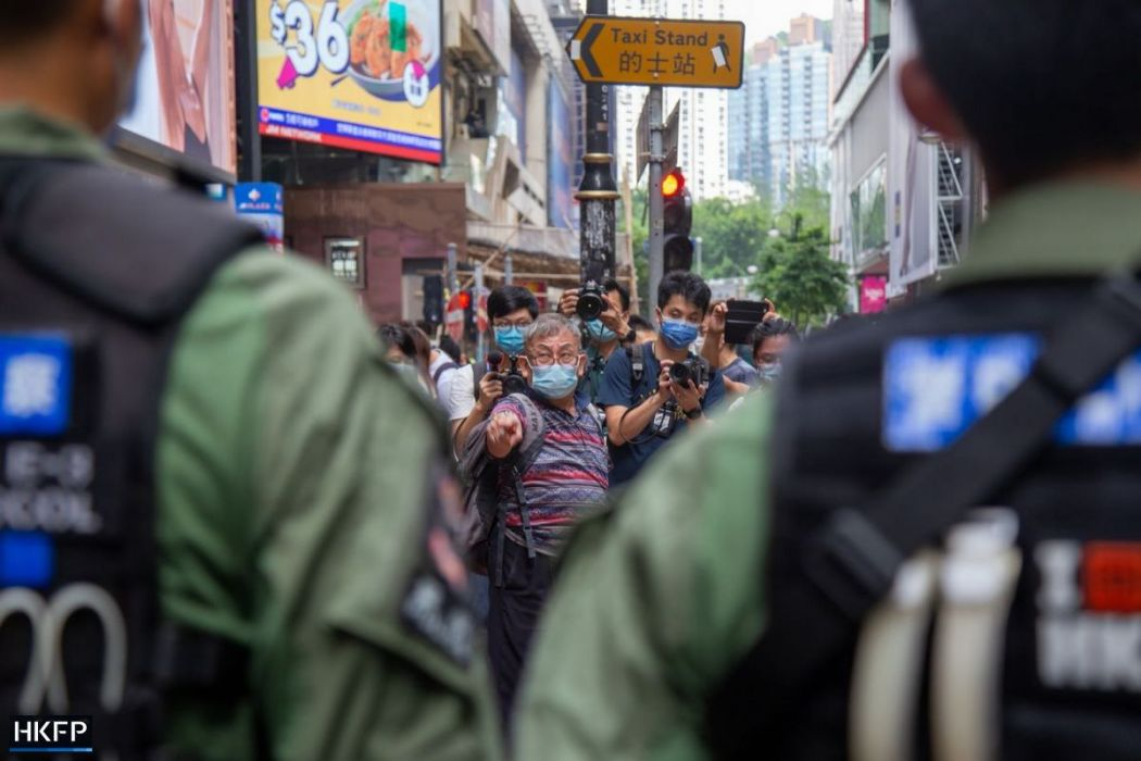 October 1 Causeway Bay Police stop and search five demands