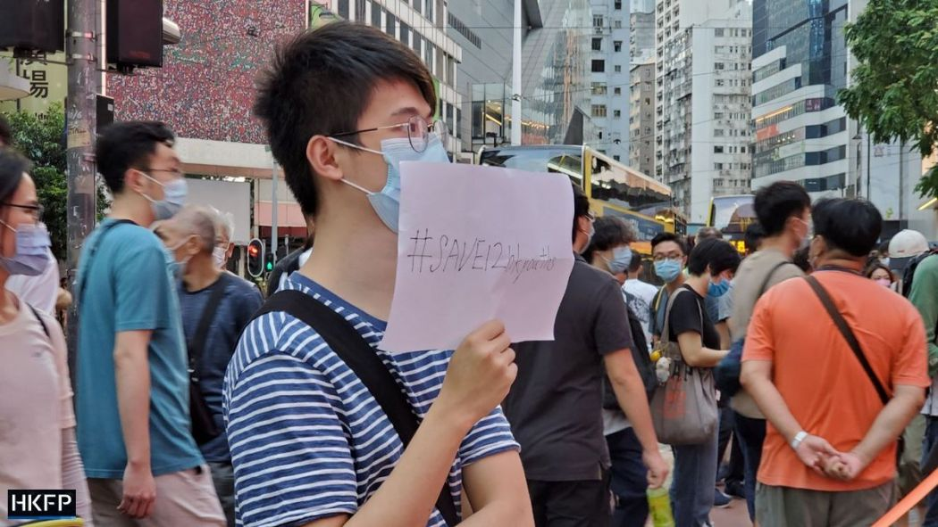 October 1 Causeway Bay Protest save 12 HK youths