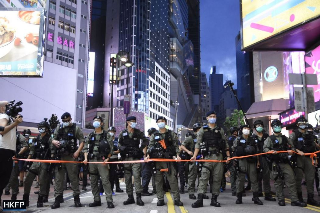 October 1 Police cordon causeway bay