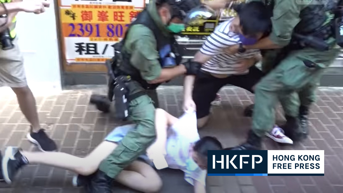12-year-old girl tackled to ground by riot police