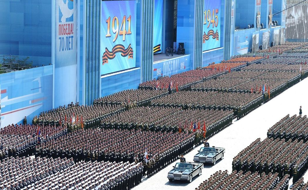 Army parade in Russia