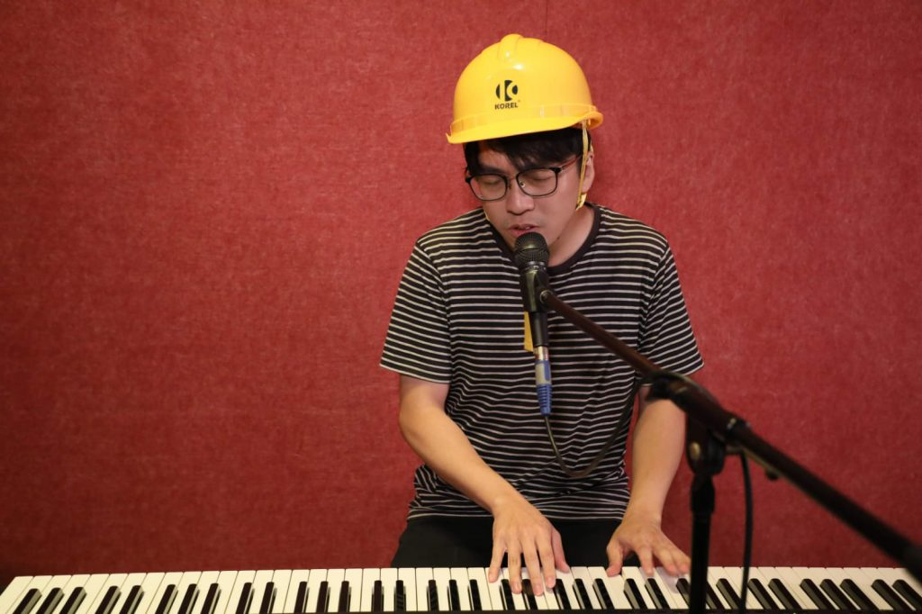 Sunny Lam creates and performs his own political music. (Photo courtesy of Sunny Lam)