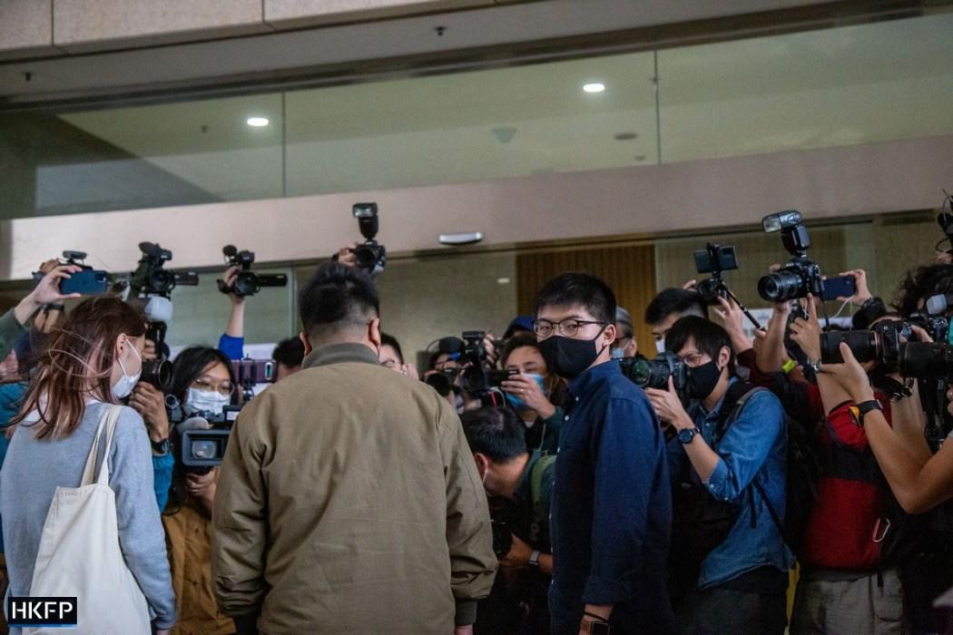 Joshua Wong Ivan Lam Agnes Chow