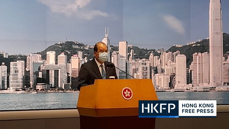 Matthew Cheung chief secretary hong kong