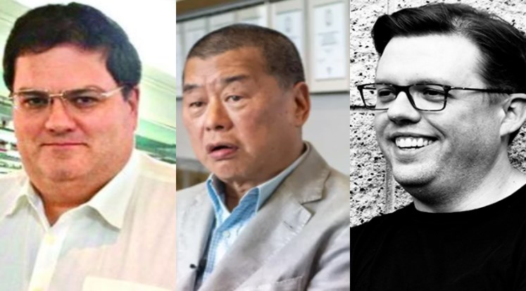 Mark Simon, Jimmy Lai and Chris Balding