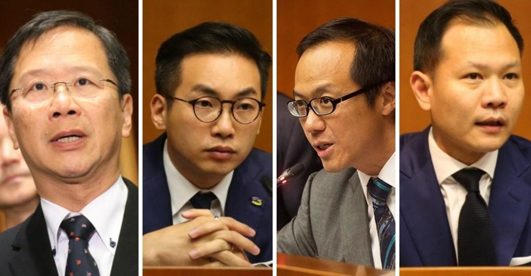 Kenneth Leung Kwok Ka-ki, Alvin Yeung, Kenneth Leung and Dennis Kwok