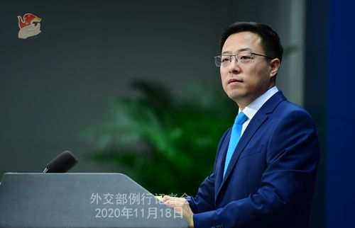 Zhao Lijian, spokesperson for Chinese Foreign Ministry