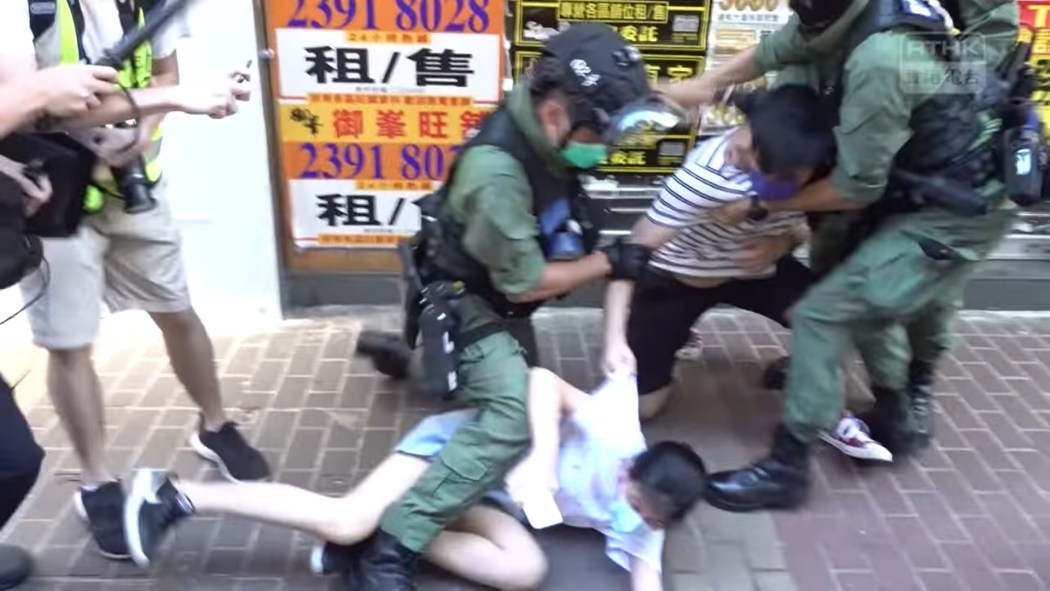 12 year-old girl tackled to ground by riot police in Mongkok on September 6