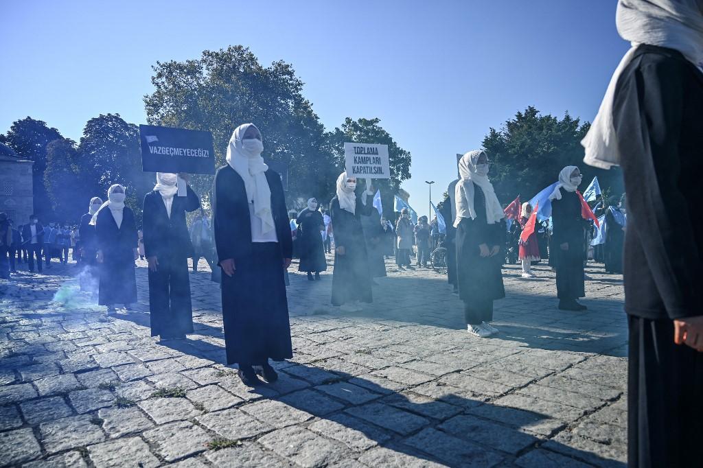 TURKEY-CHINA-UIGHURS-RELIGION-DEMONSTRATION