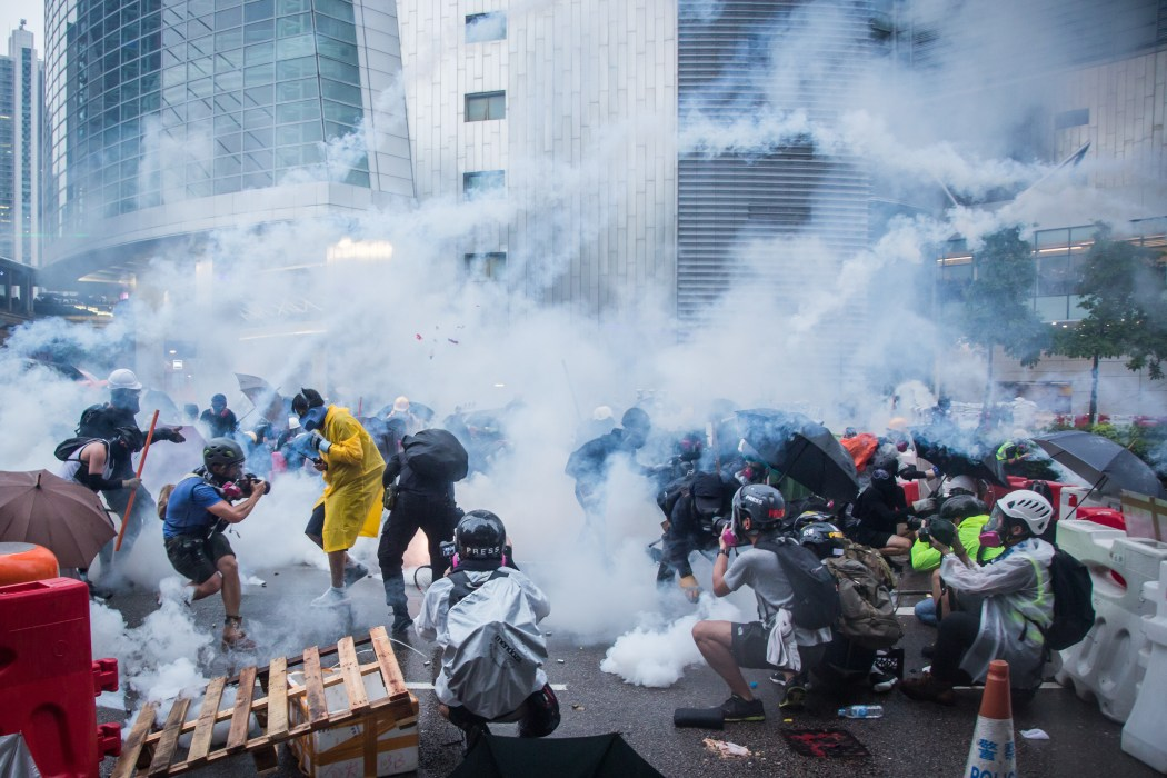 2019 protests tear gas