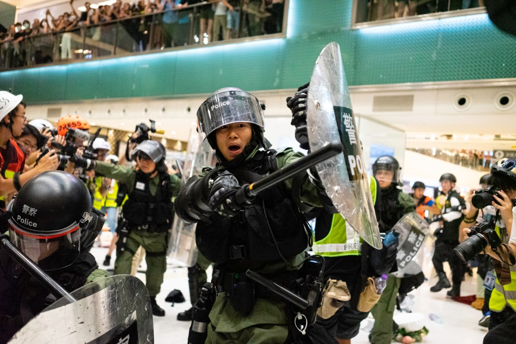 Sha Tin Peaceful Protest Turns Violent