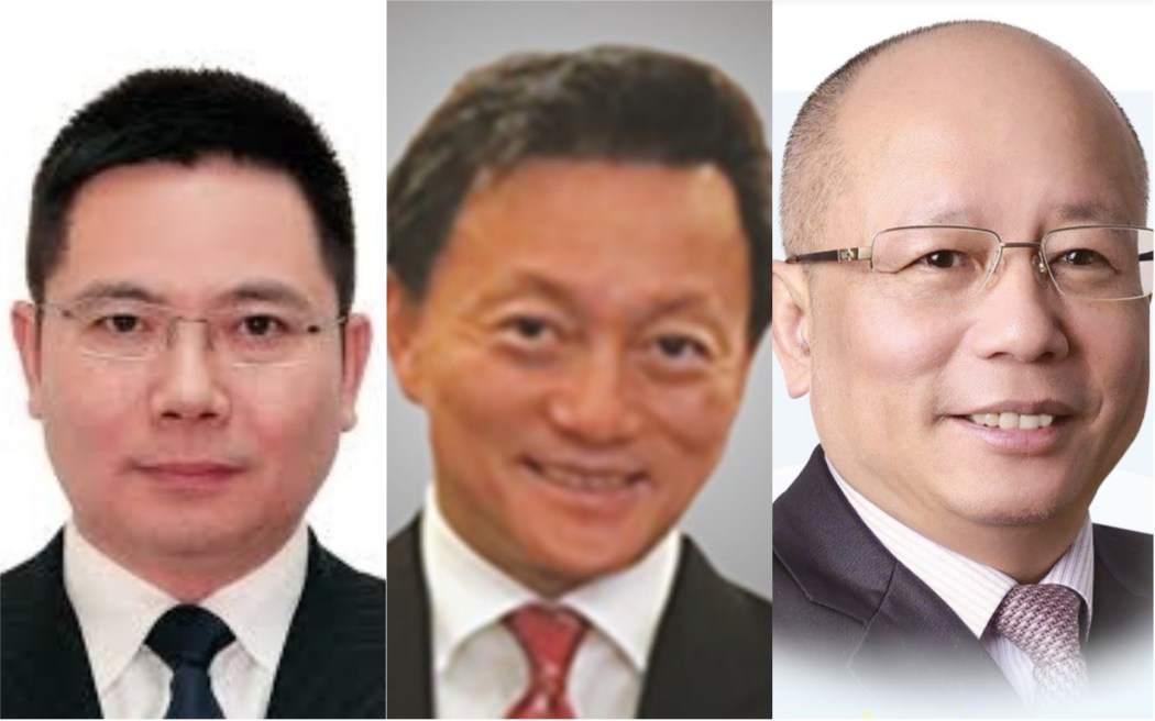 Bauhinia party co-founders Li Shan, Wong Chau-chi, and Clement Chan. (Left to right). Photos: Internet.