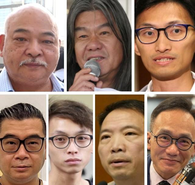 Tsang Kin-shing, Leung Kwok-hung, Eddie Chu, Lancelot Chan, Figo Chan, Wu Chi-wai and Andy Chiu.