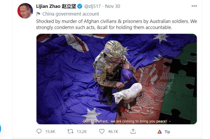 Zhao Lijian's tweet