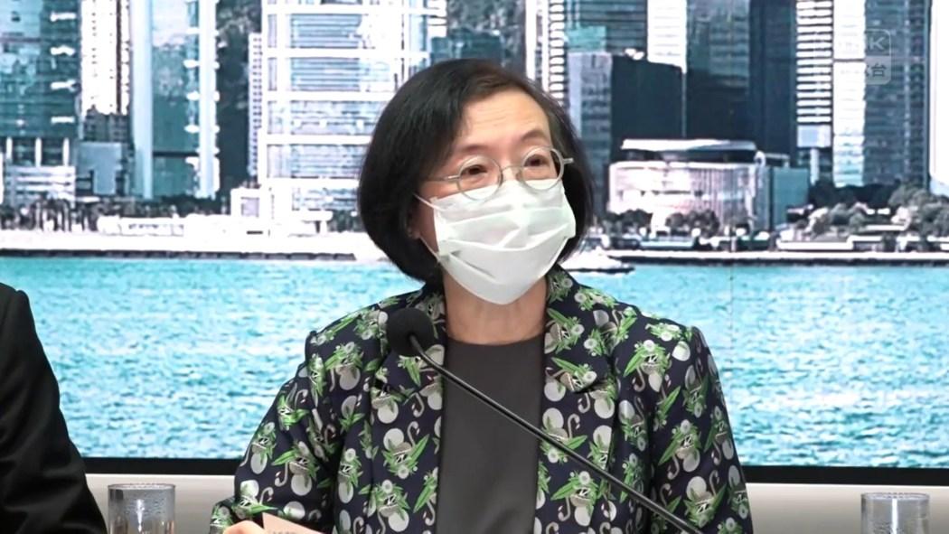 Secretary for Food and Health Sophia Chan