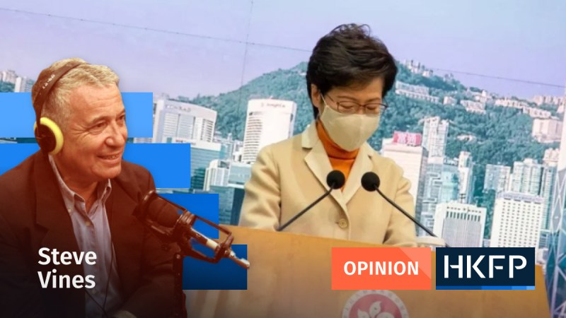 Carrie Lam - Opinion - Steve Vines