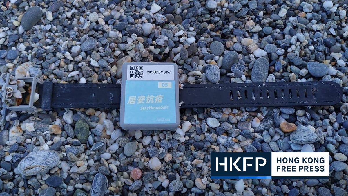 Hong Kong quarantine wristband