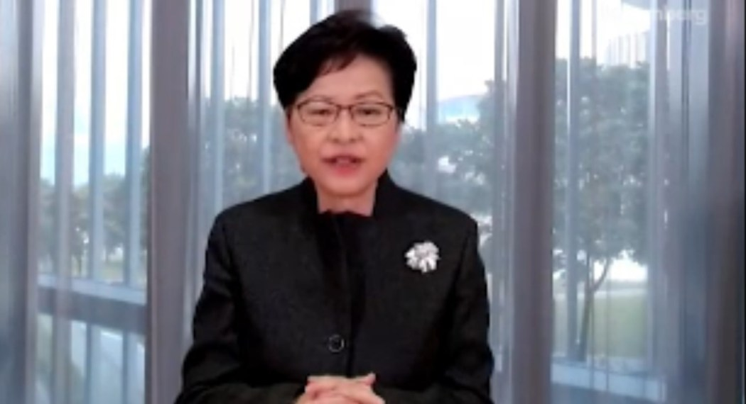 carrie lam on bloomberg tv
