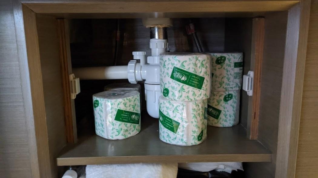 hotel quarantine toilet paper