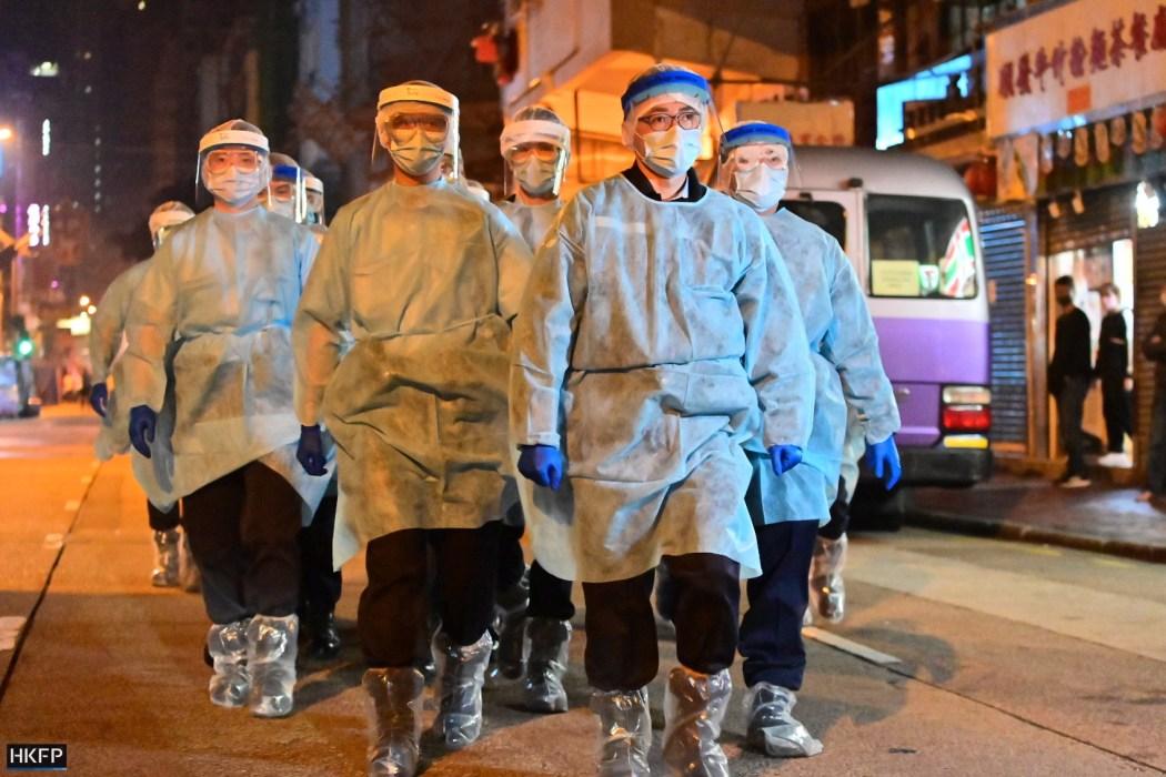 yau ma tei jordan covid lockdown PPE virus test