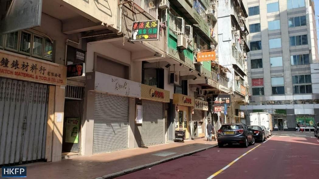 jordan yau ma tei bad business in covid lockdown shuttered shop