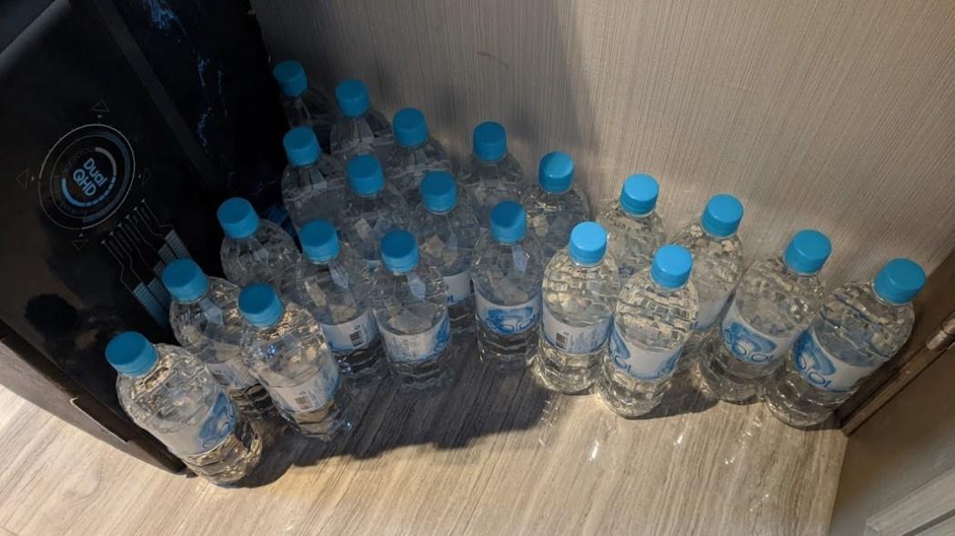 hotel quarantine water bottles