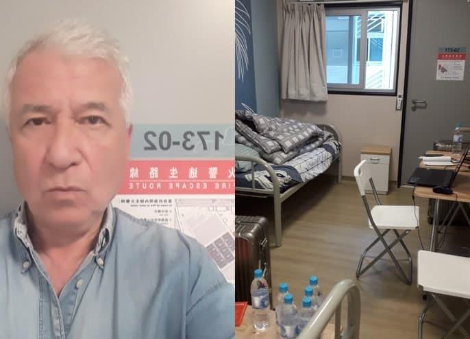 Steve Vines in quarantine