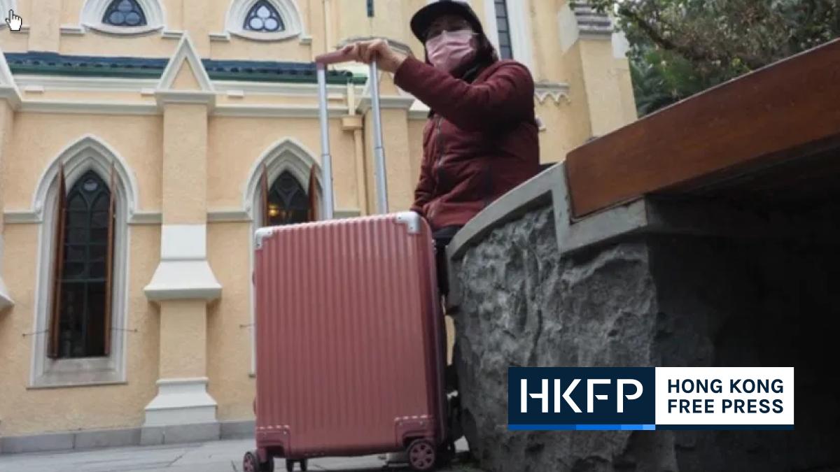 poon hiu-wing pink suitcase