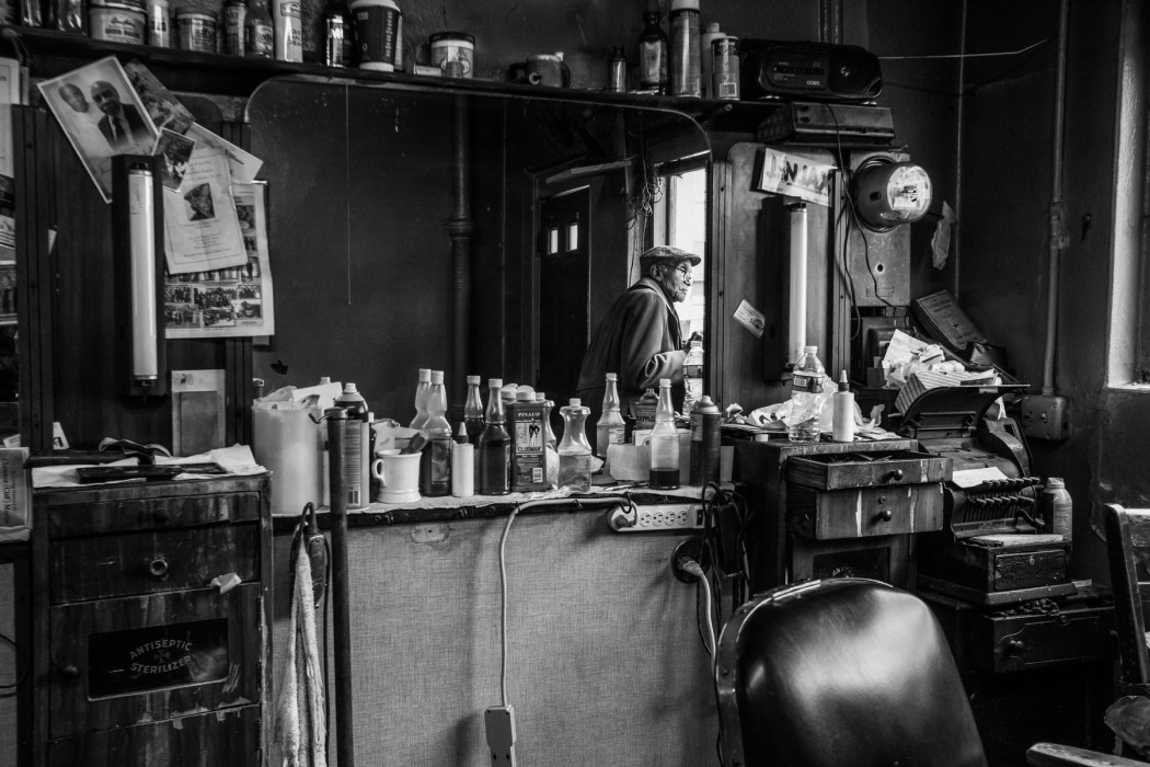Jessie and Duke's barber shop on Godwin Avenue
