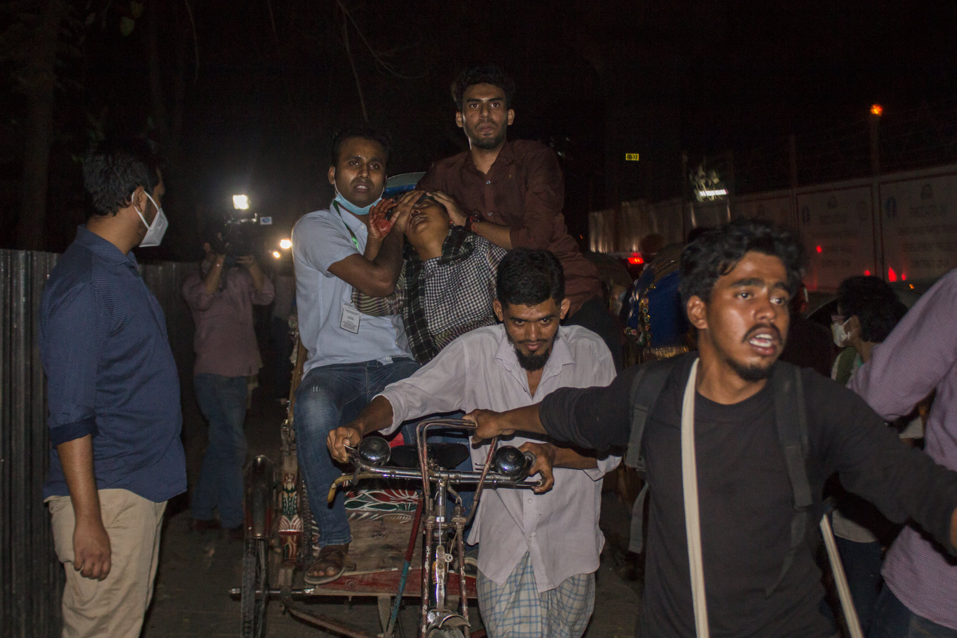A protest in Dhaka, Bangladesh on February 26
