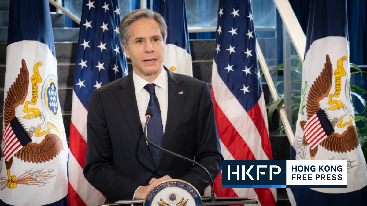 US Secretary of State Antony Blinken supports hong kong