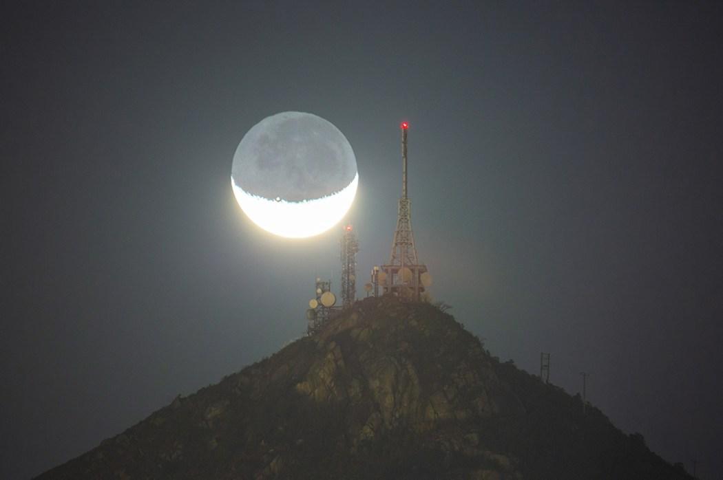 Hong Kong mountain moon