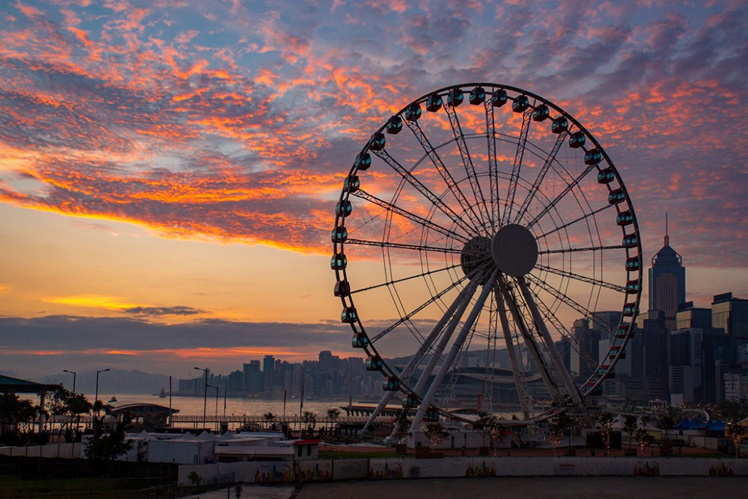 Hong Kong skyline wheel
