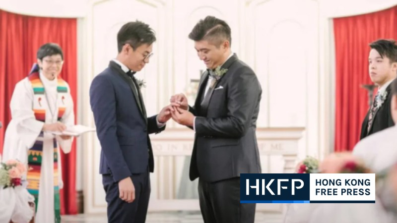 Henry Li and Edgar Ng gay couple gay marriage LGBT. featured img