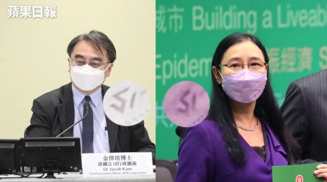 Jacob Kim and Alice Lau wearing masks