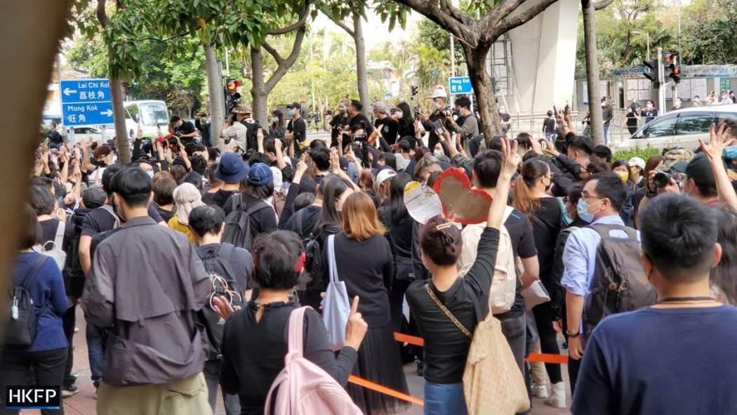 Para pendukung aktivis prodemokrasi dituntut di bawah undang-undang keamanan nasional