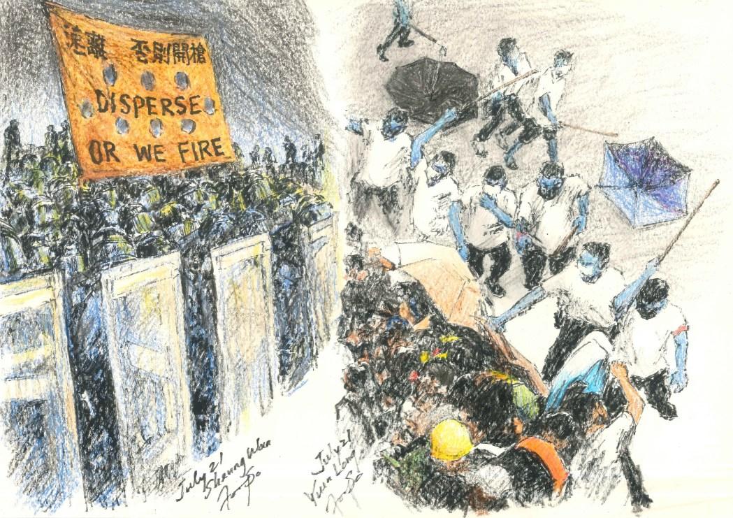 sketch protest