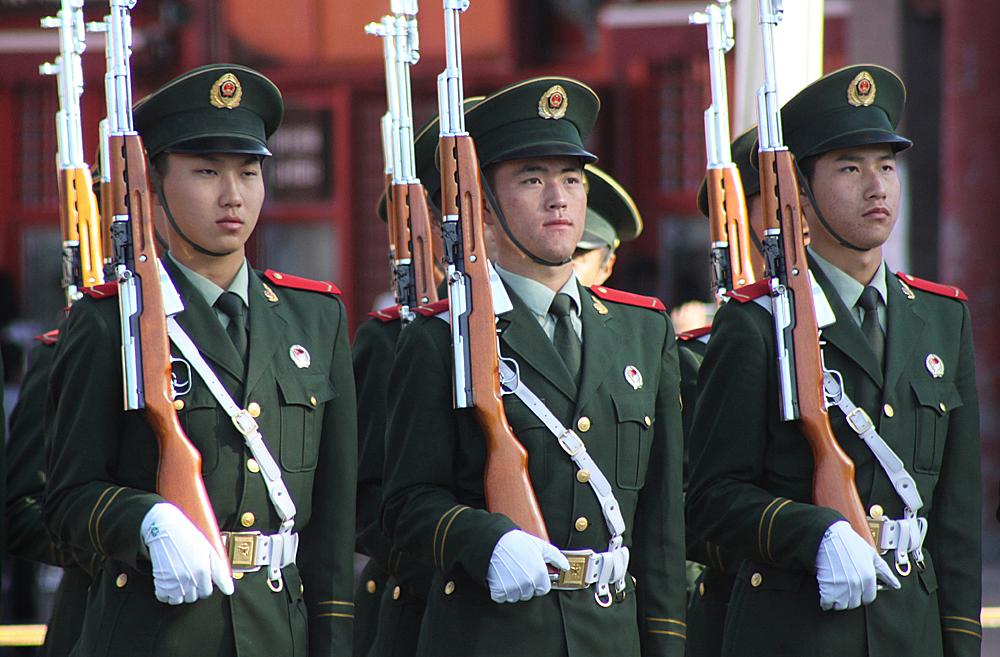 Chinese military officers PLA Army troops war