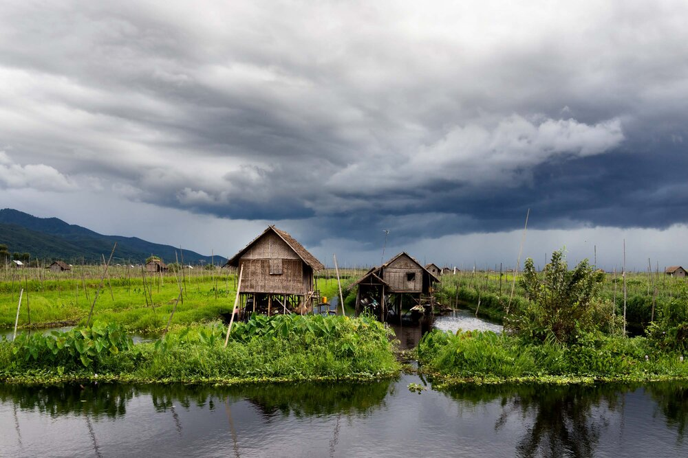 Annie_Grossinger - Untitled, Inle Lake, 2015, A storm approaches Inle Lake