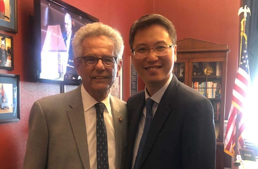 HKETO commissioner Eddie Mak met with Alan Lowenthal on Sept 17 2019