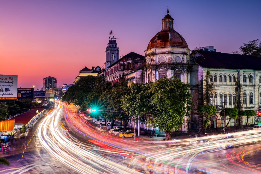Sebastian_Higginson - Yangon by night -Yangon Division Court - 2019
