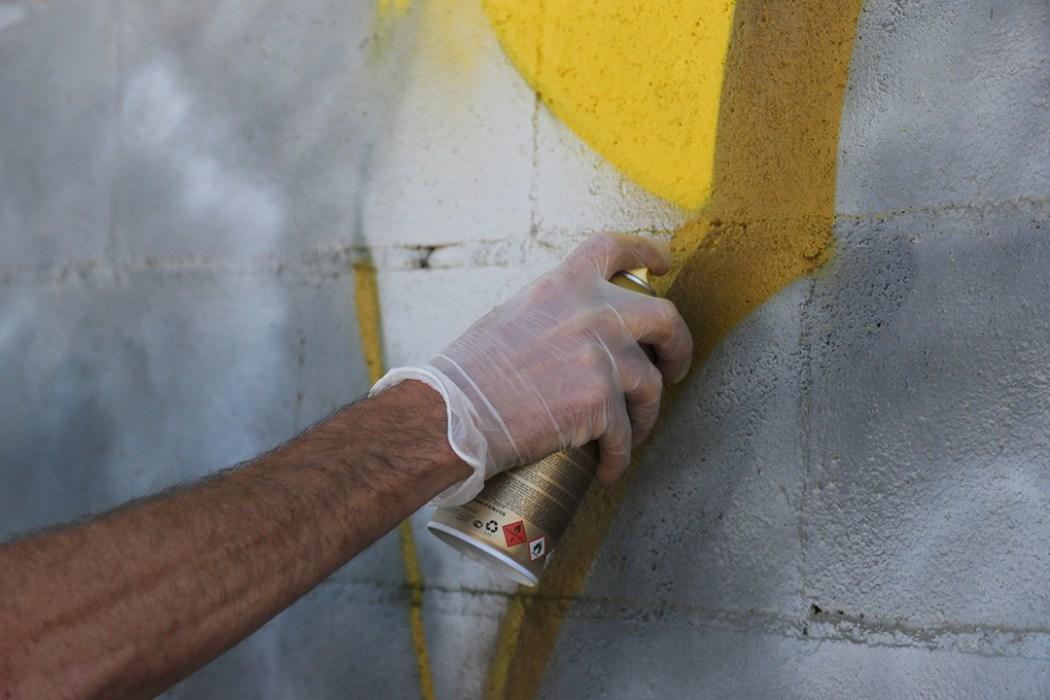 spray cans graffiti yellow
