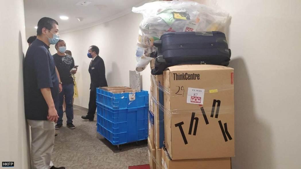 Mr Wu EPD civil servant 2 moving boxes carton