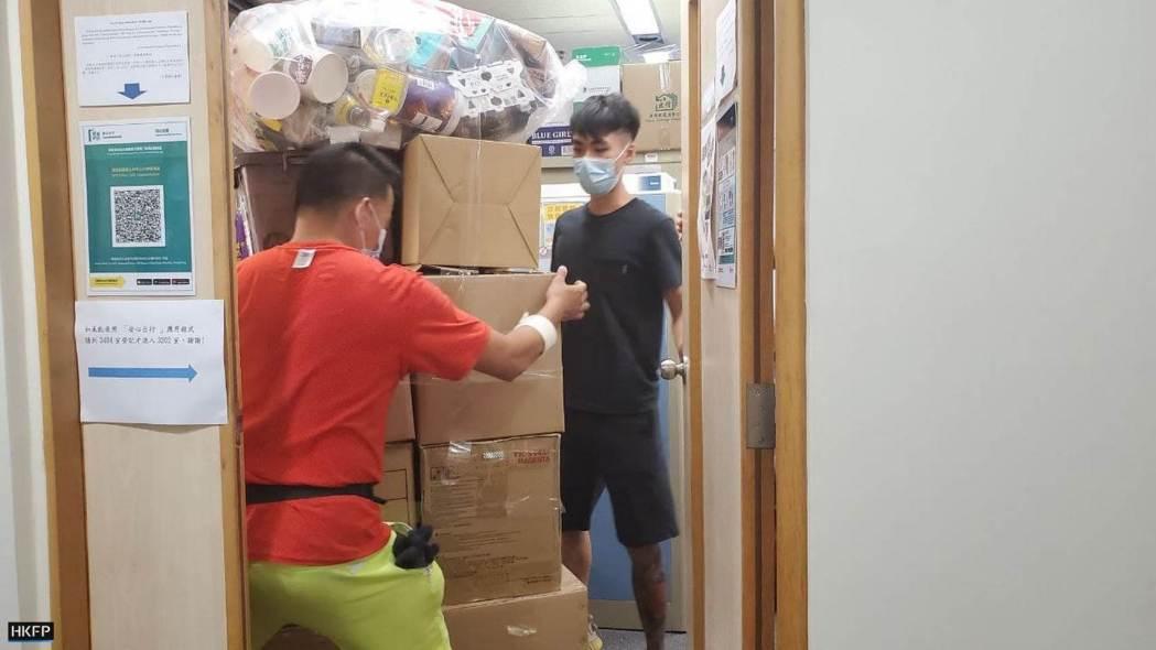 Mr Wu EPD civil servant 3 moving boxes carton