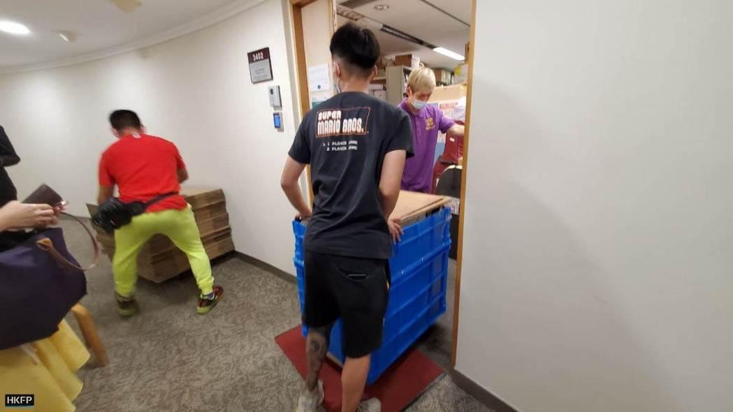Mr Wu EPD civil servant 4 moving boxes carton