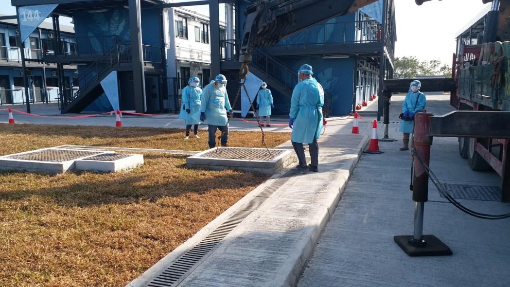 Penny's Bay Covid-19 quarantine centre on Lantau