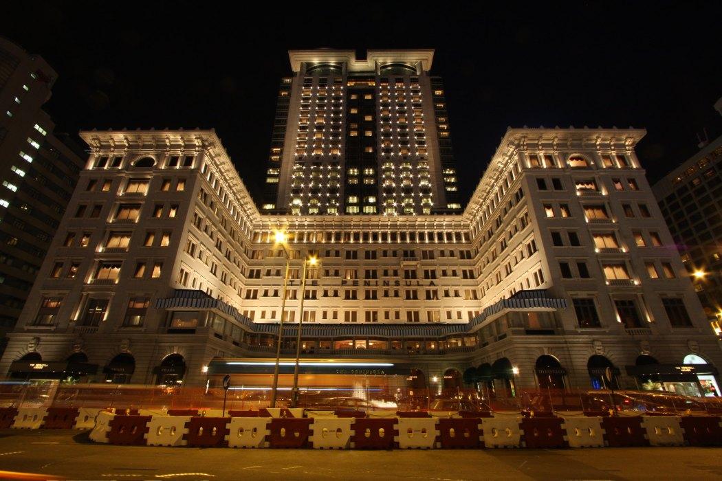 Peninsula Hotel night scene hong kong tsim sha tsui tourism hospitality