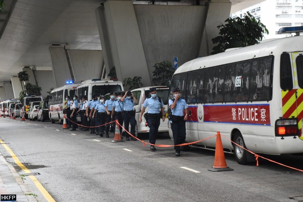 police at west kowloon magistrate court on may 31